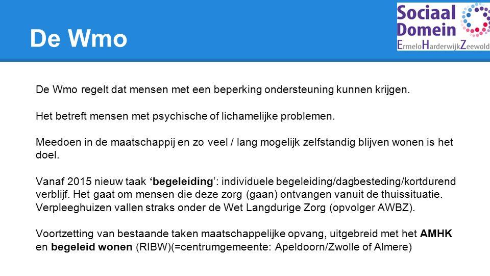 De Wmo regelt dat mensen met een beperking ondersteuning kunnen krijgen.