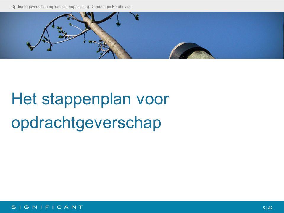 Opdrachtgeverschap bij transitie begeleiding - Stadsregio Eindhoven 5 | 42 Het stappenplan voor opdrachtgeverschap