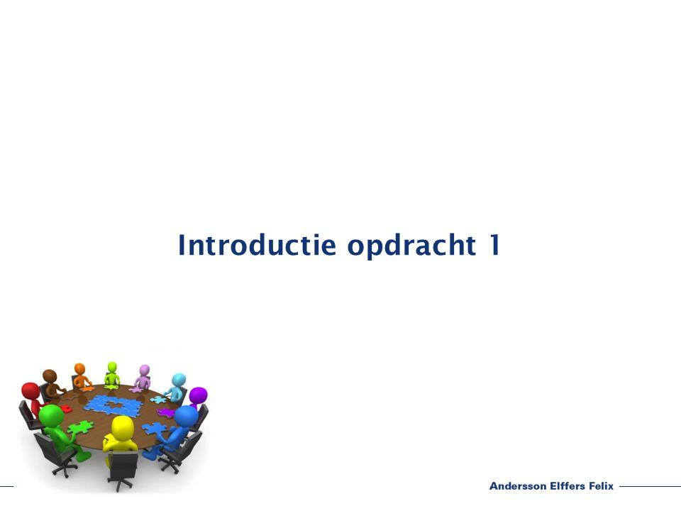 Introductie opdracht 1