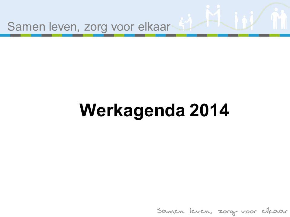 Samen leven, zorg voor elkaar Werkagenda 2014