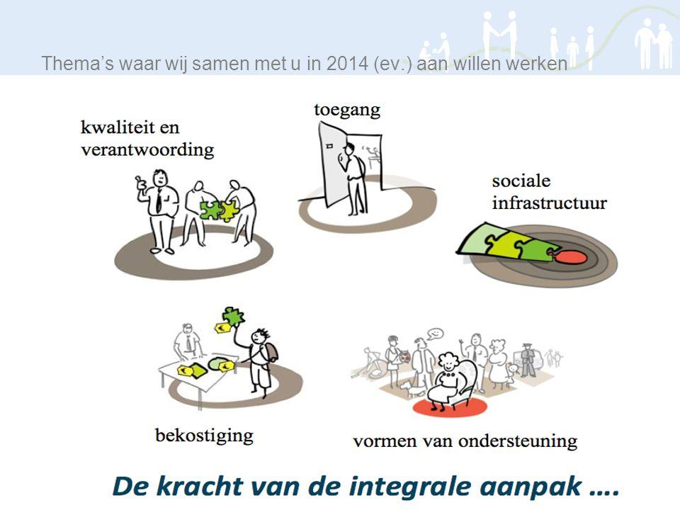 Thema's waar wij samen met u in 2014 (ev.) aan willen werken