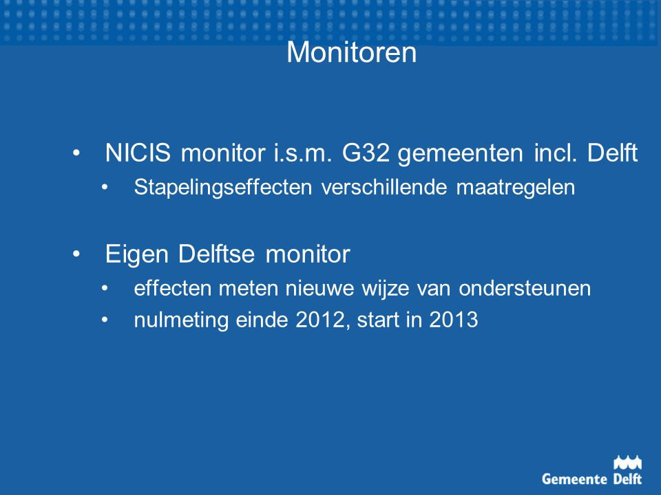 Monitoren NICIS monitor i.s.m. G32 gemeenten incl.