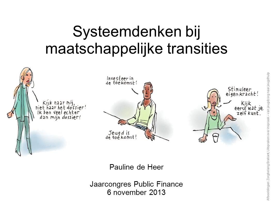 Pauline de Heer Jaarcongres Public Finance 6 november 2013 Systeemdenken bij maatschappelijke transities Afbeeldingen: Zorgbelang Brabant, Uitspraken over inspraak – van jeugdzorg naar jeugdhulp