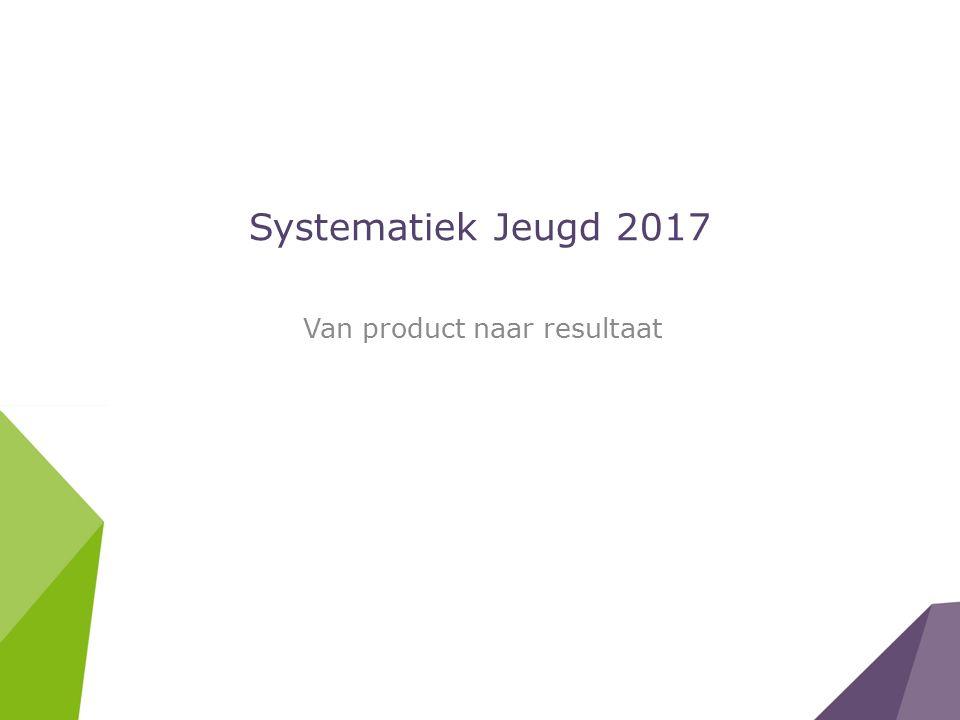 Systematiek Jeugd 2017 Van product naar resultaat