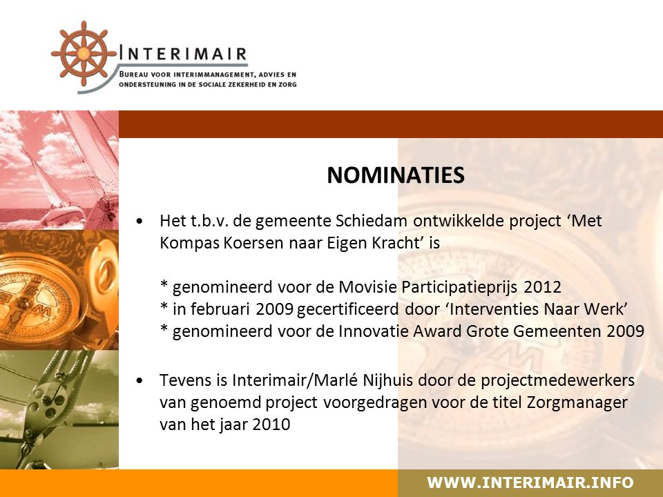 WWW.INTERIMAIR.INFO NOMINATIES Het t.b.v.