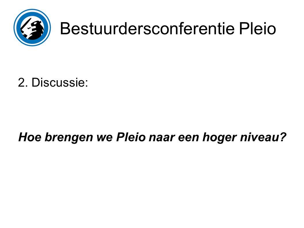 Bestuurdersconferentie Pleio 2. Discussie: Hoe brengen we Pleio naar een hoger niveau