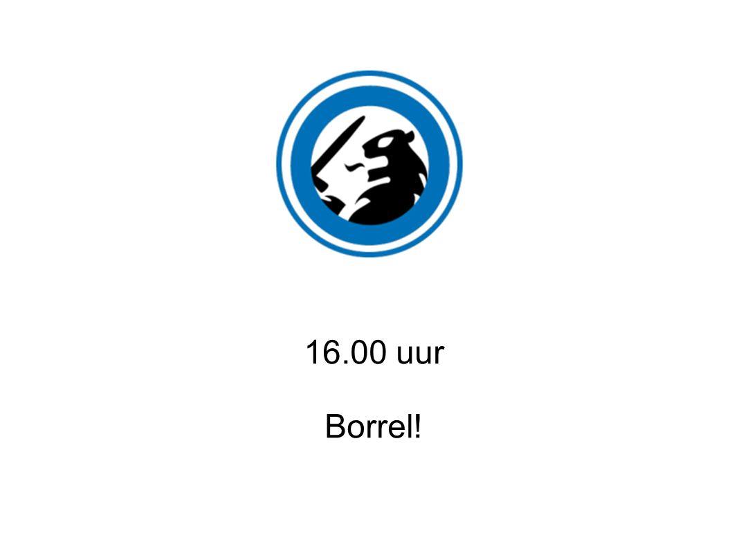 16.00 uur Borrel!
