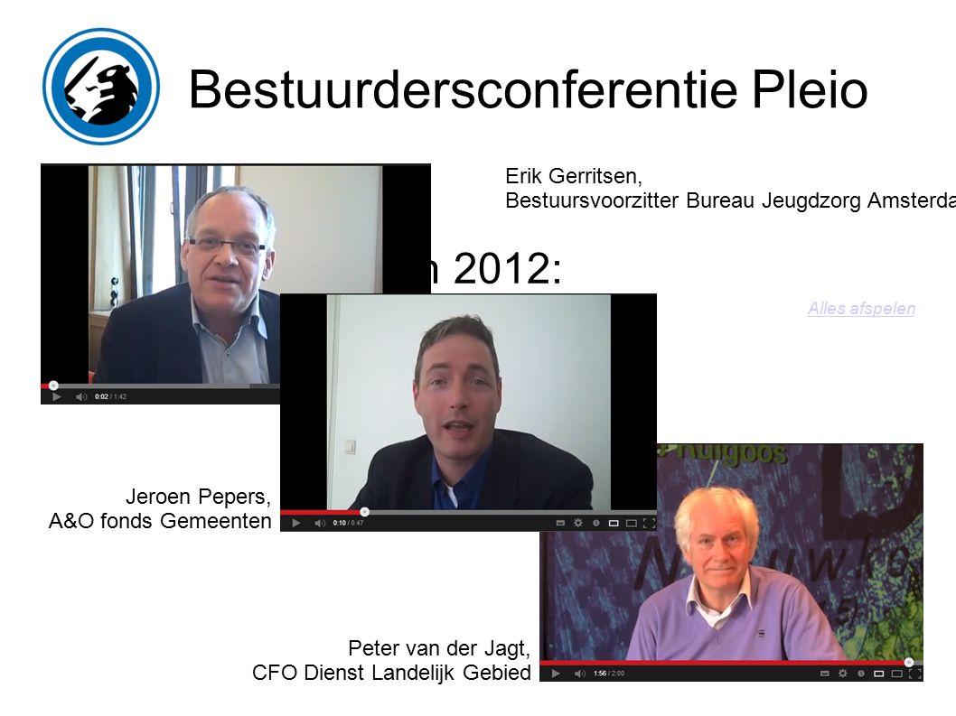 Bestuurdersconferentie Pleio Pleio in 2012: 1. Groei 2.