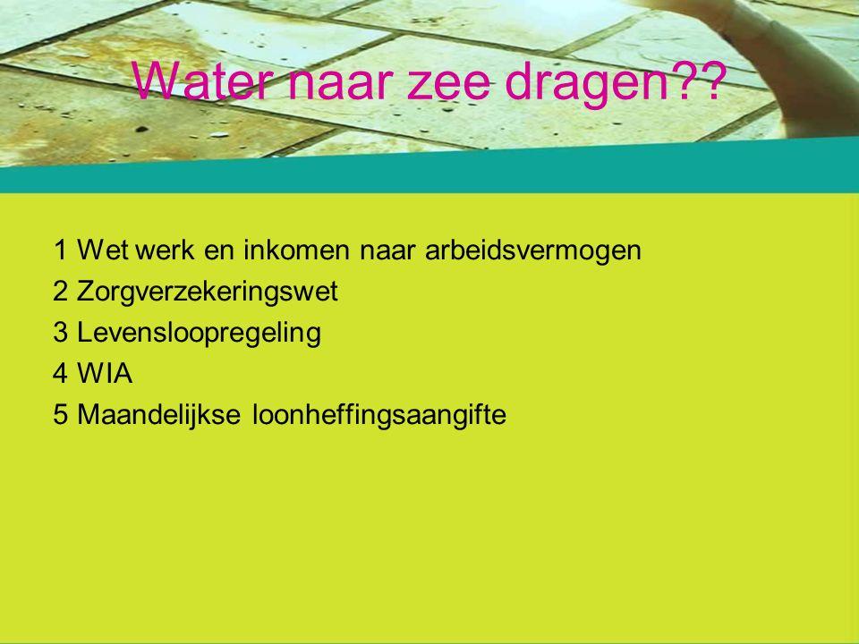 Water naar zee dragen?.