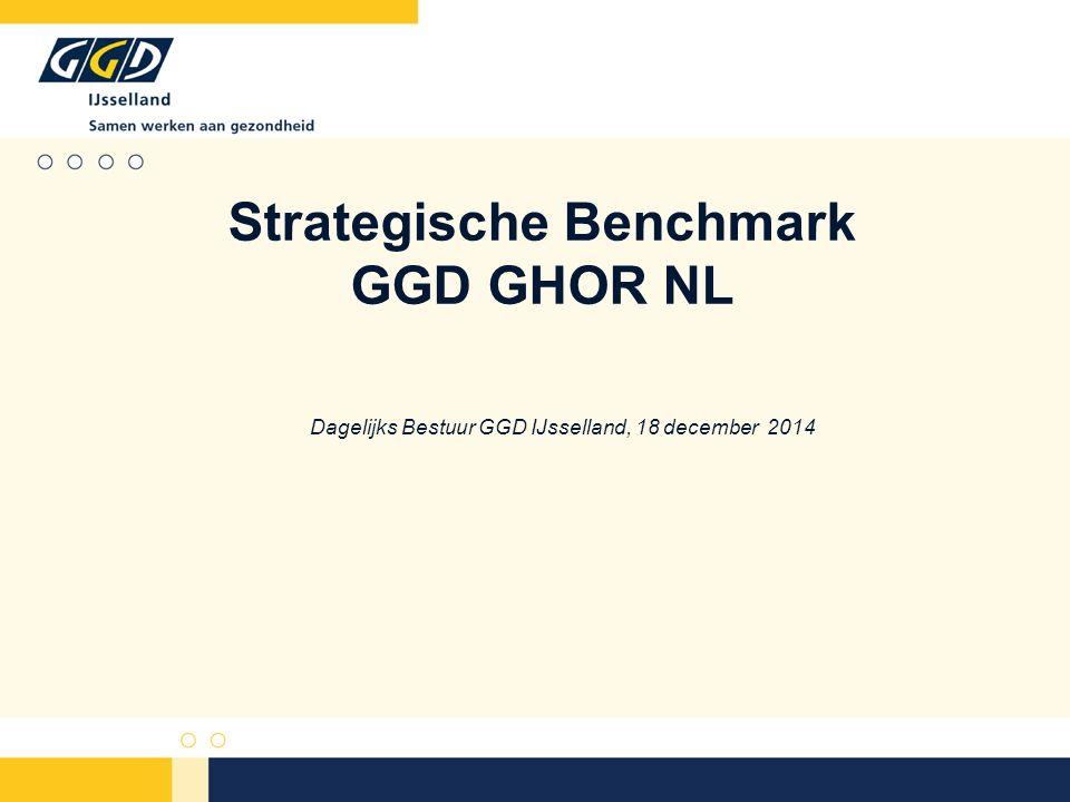 Historie Doelstellingen Benchmark in het kort De indicatoren (2013) GGD IJsselland & Strategische Benchmark Benchmark in de toekomst Inhoud presentatie