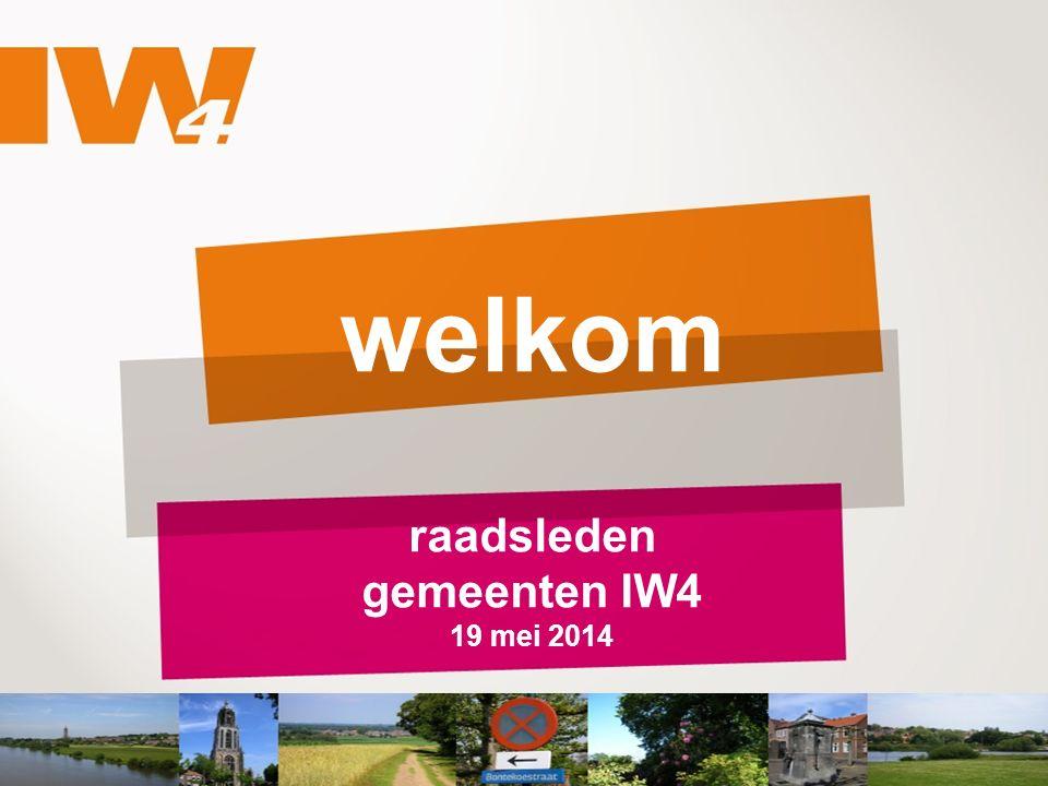 welkom raadsleden gemeenten IW4 19 mei 2014