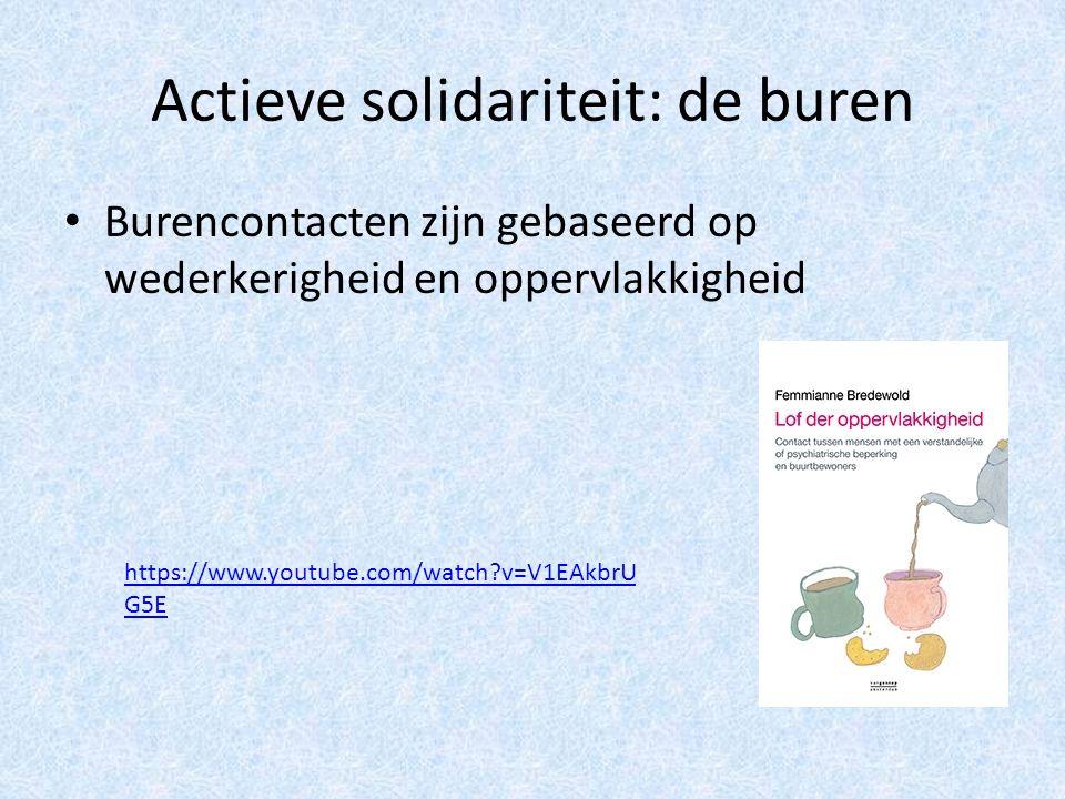 Actieve solidariteit: de buren Burencontacten zijn gebaseerd op wederkerigheid en oppervlakkigheid https://www.youtube.com/watch v=V1EAkbrU G5E