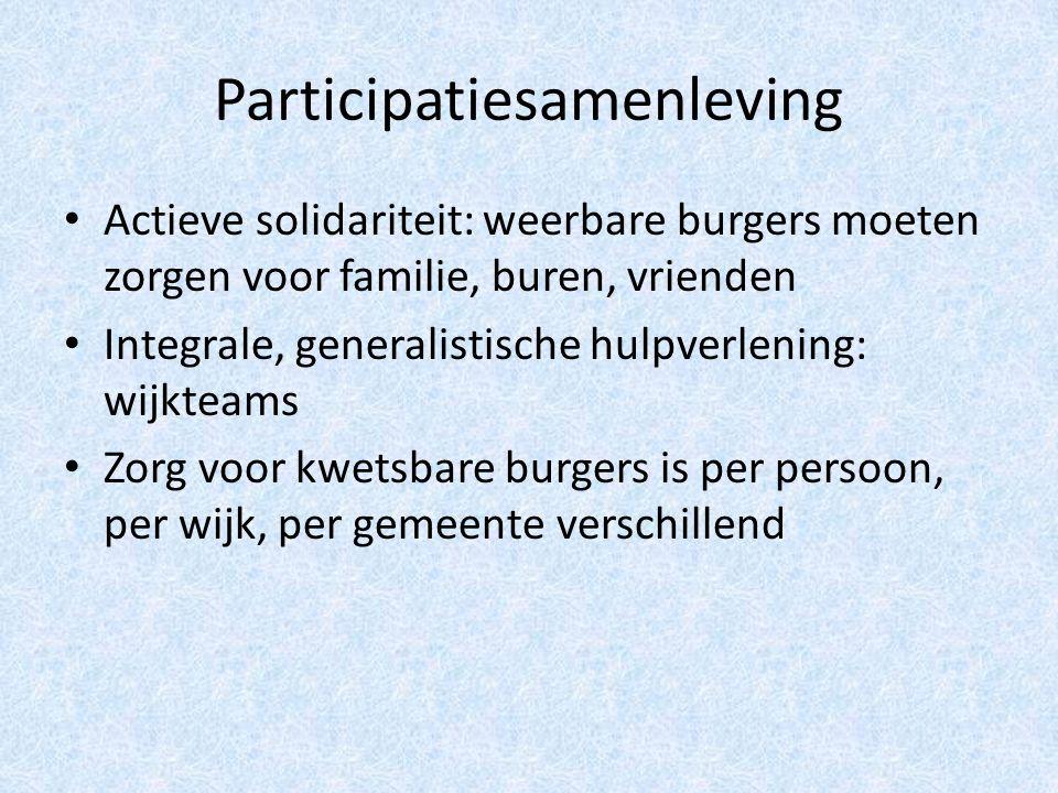 Gevolgen voor huisartsen Actieve solidariteit: signalering Integrale hulpverlening: privacy, beroepsgeheim Diversiteit: individueel bijscholen