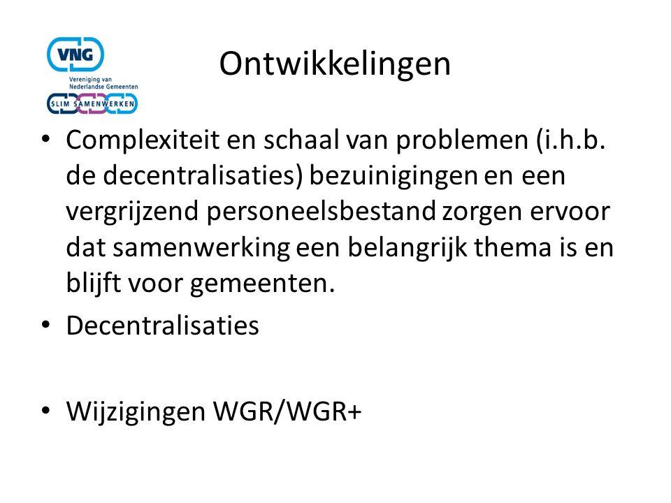 Ontwikkelingen Complexiteit en schaal van problemen (i.h.b.