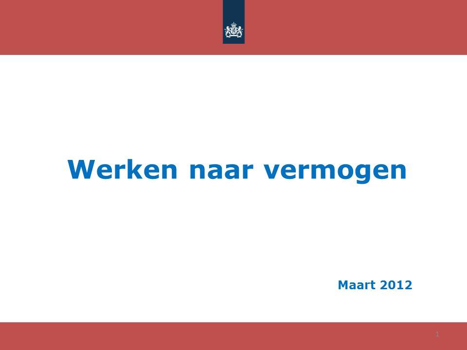 Werken naar vermogen Maart 2012 1