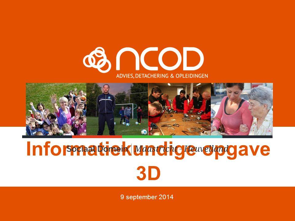 Informatiekundige opgave 3D 9 september 2014
