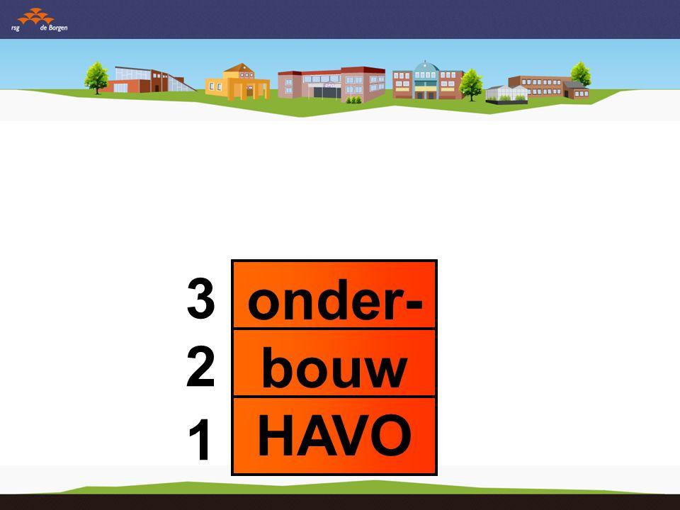onder- bouw HAVO 3 2 1