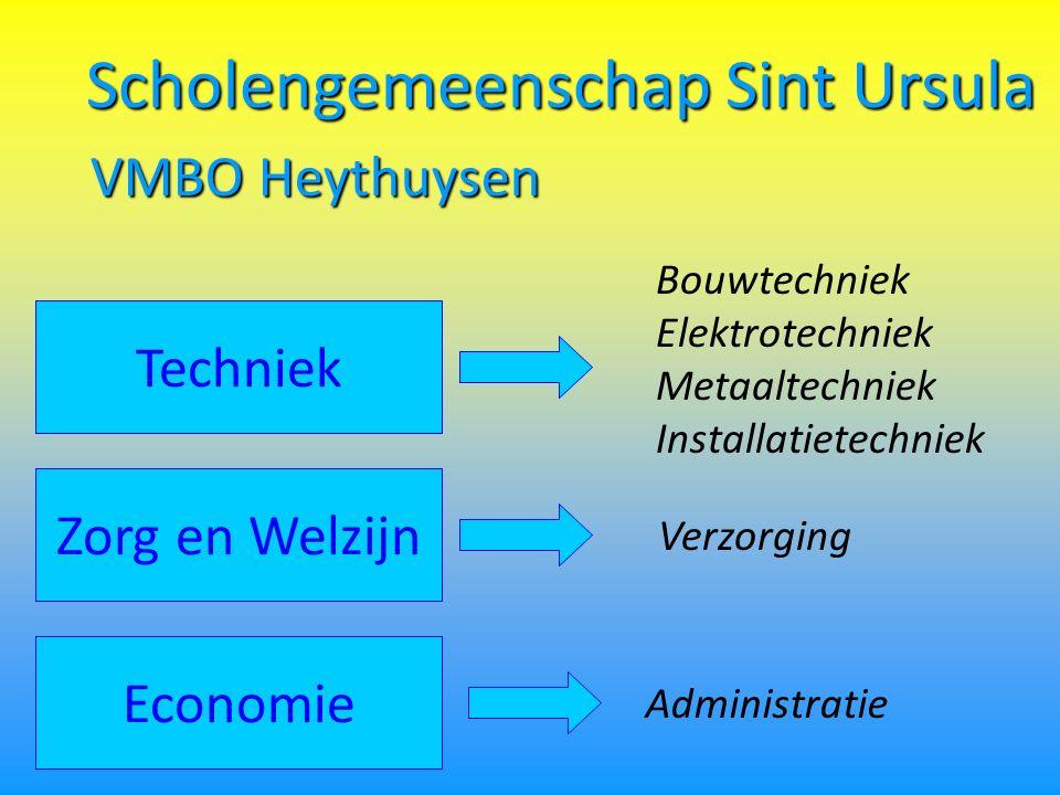 Scholengemeenschap Sint Ursula Bouwtechniek Elektrotechniek Metaaltechniek Installatietechniek Techniek VMBO Heythuysen Zorg en Welzijn Economie Administratie Verzorging