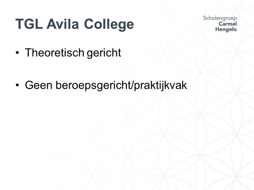 TGL Avila College Theoretisch gericht Geen beroepsgericht/praktijkvak