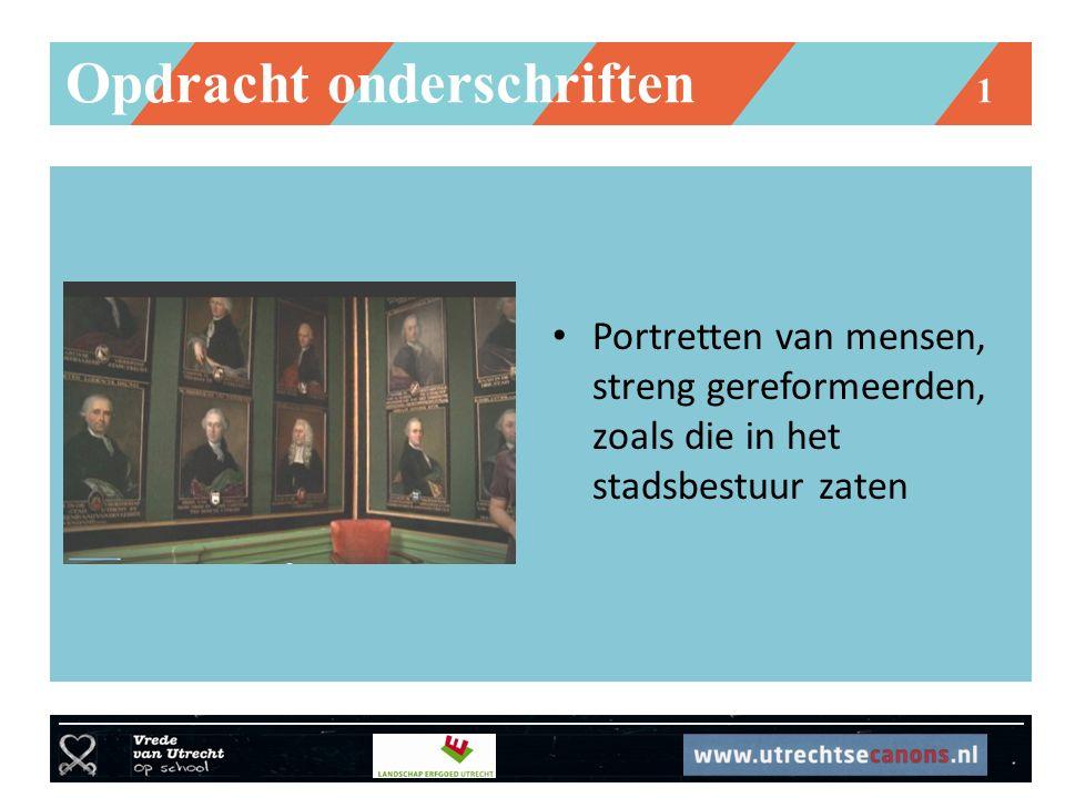 Opdracht onderschriften 1 Portretten van mensen, streng gereformeerden, zoals die in het stadsbestuur zaten