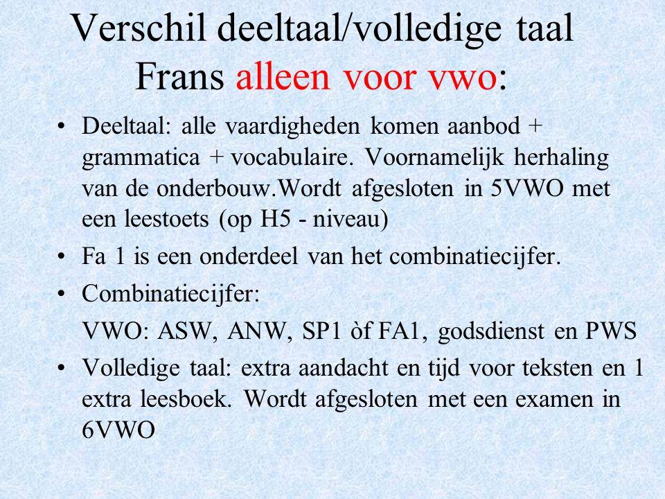 Het gemeenschappelijk deel Papiaments Nederlands Engels Deeltaal Spaans of Frans (vwo) Algemene natuurwetenschappen (ANW) Algemene sociale wetenschappen (ASW) Culturele & artistieke vorming (CAV) Lichamelijke opvoeding