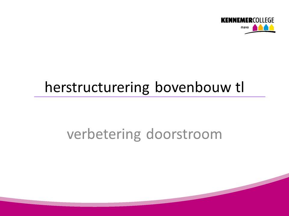 herstructurering bovenbouw tl verbetering doorstroom