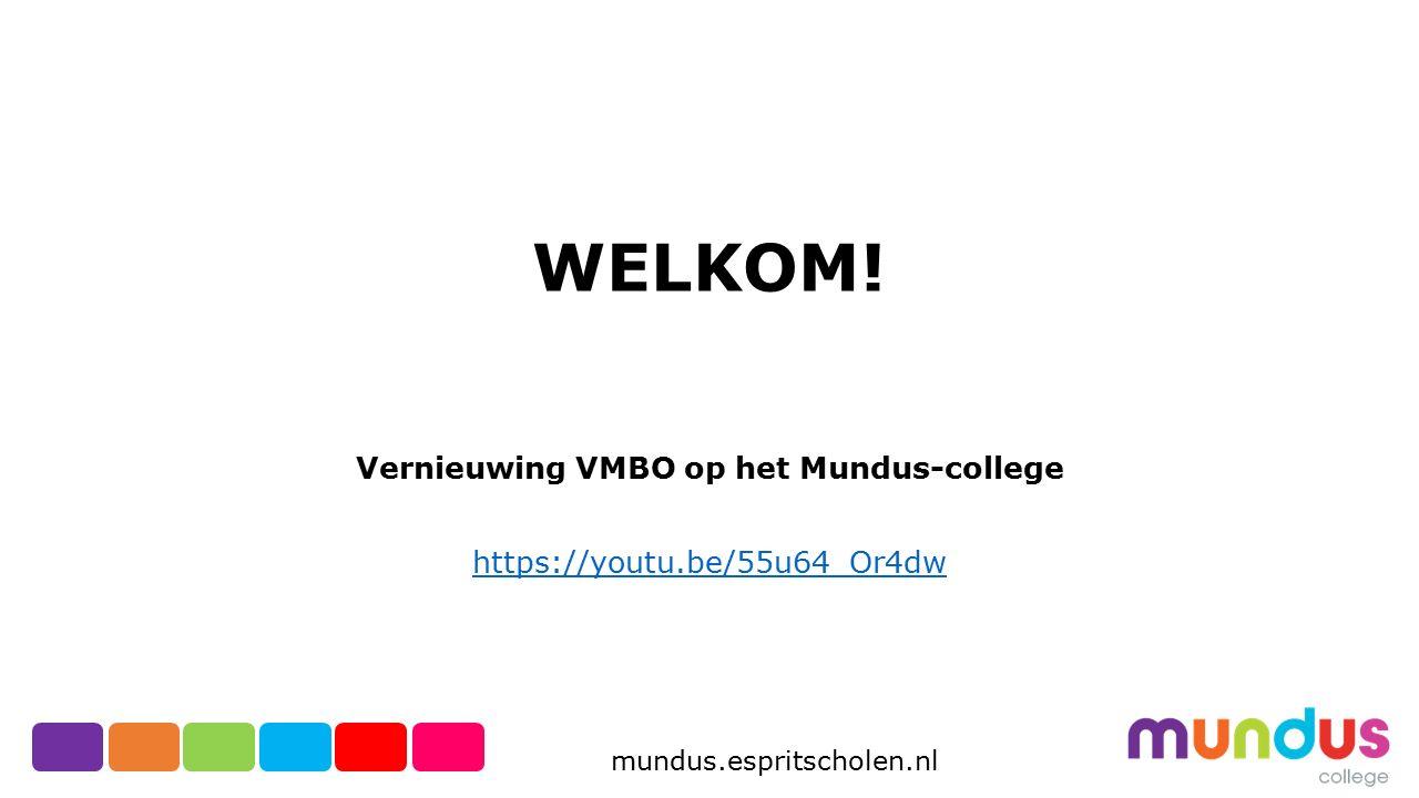 mundus.espritscholen.nl Kies je voor het profiel HBR DAN MOET JE OOK EXAMEN DOEN IN DE VAKKEN: ECONOMIE EN WISKUNDE