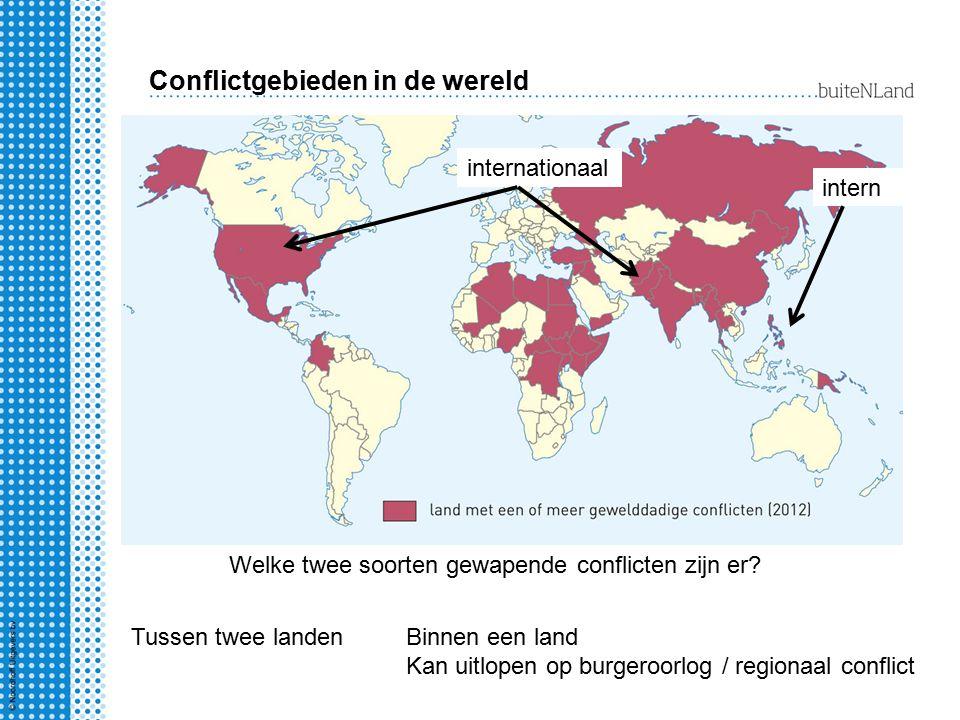 Conflictgebieden in de wereld Welke twee soorten gewapende conflicten zijn er.
