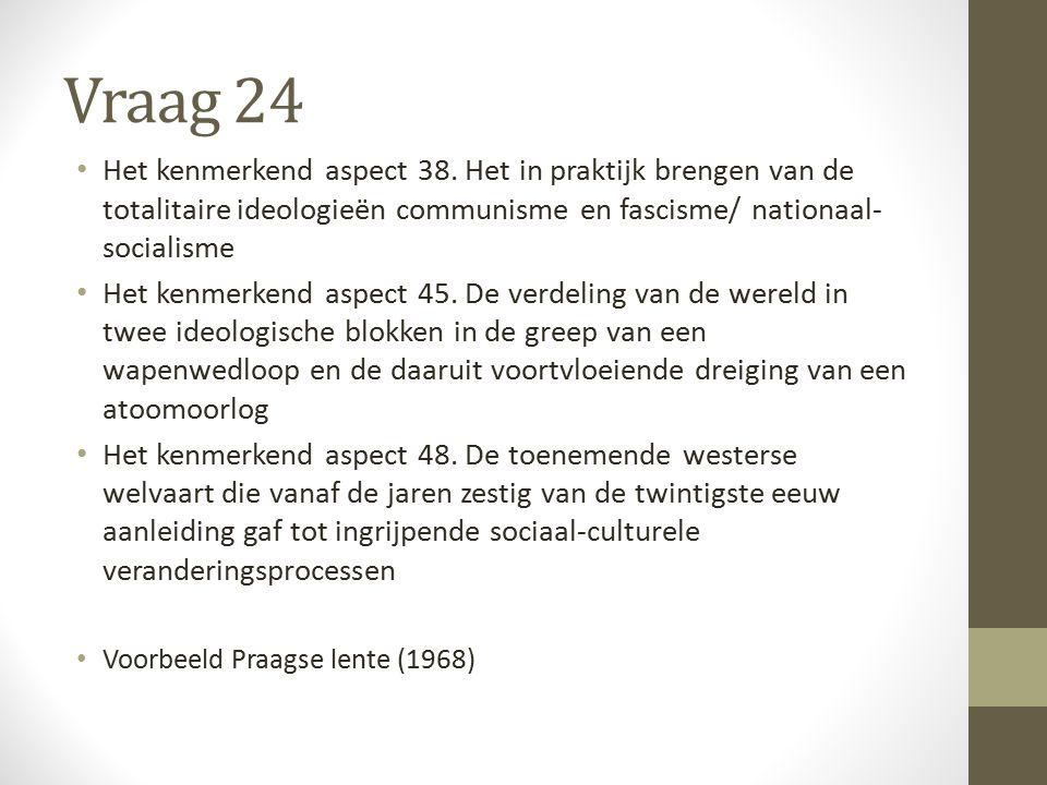 Vraag 24 Het kenmerkend aspect 38.