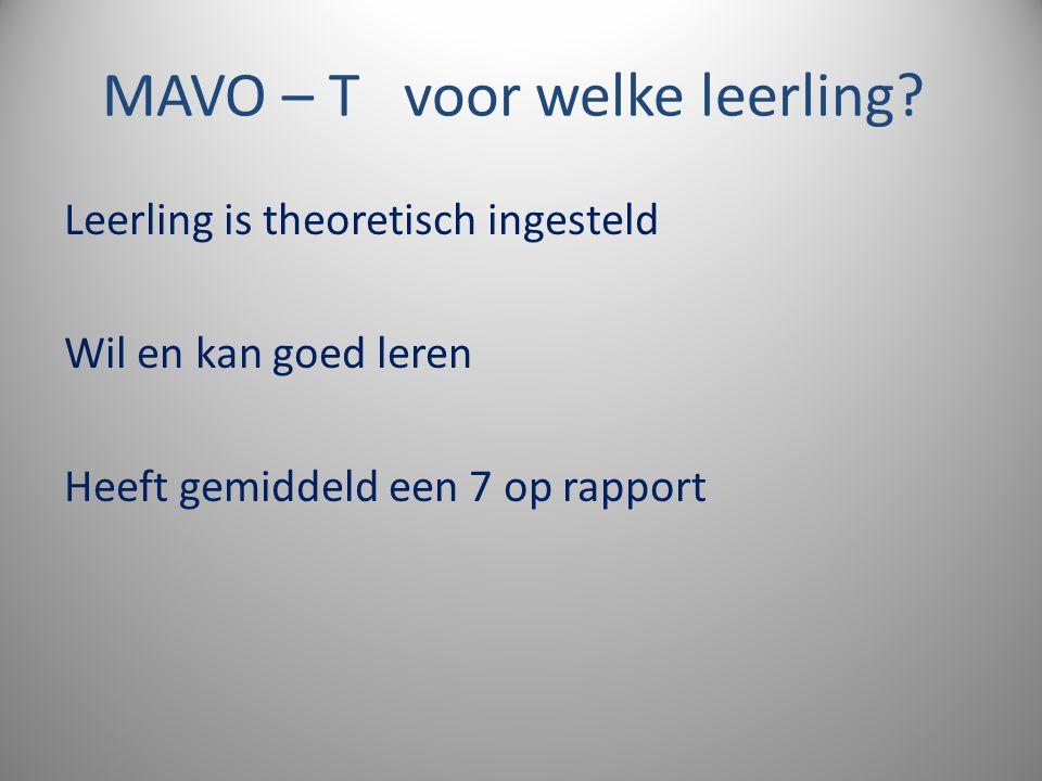 MAVO – T voor welke leerling.