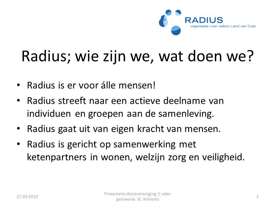 Radius; wie zijn we, wat doen we.Radius is er voor álle mensen.
