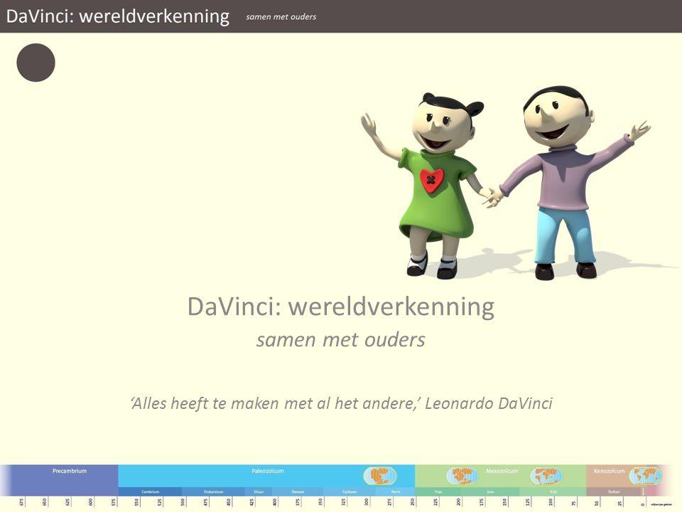 DaVinci: wereldverkenning samen met ouders 'Alles heeft te maken met al het andere,' Leonardo DaVinci