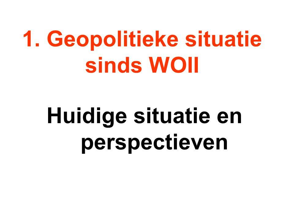 1. Geopolitieke situatie sinds WOII Huidige situatie en perspectieven