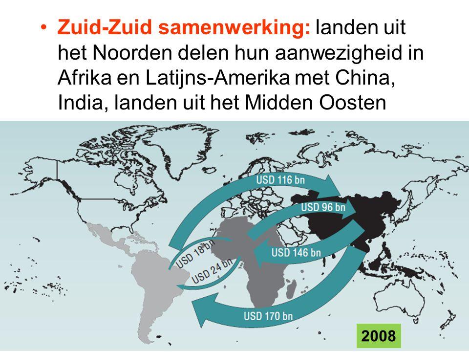 Zuid-Zuid samenwerking: landen uit het Noorden delen hun aanwezigheid in Afrika en Latijns-Amerika met China, India, landen uit het Midden Oosten 2008