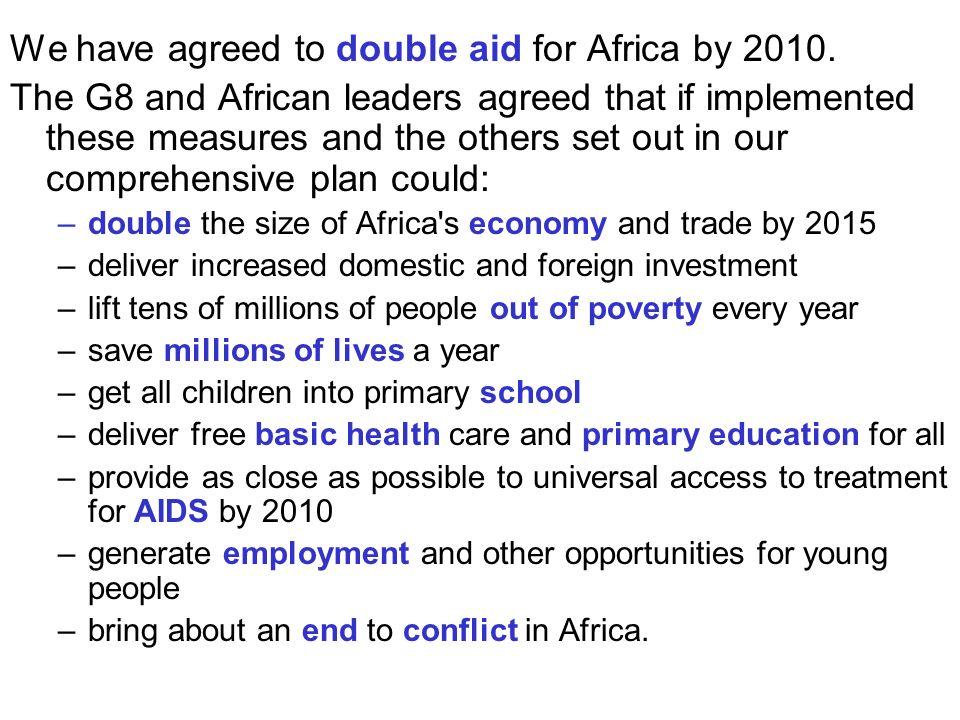 Voedseloverschot voor 600 miljoen mensen Bijna 1 mia mensen honger + 1 mia ondervoed 25.000  per dag Kostprijs honger uitroeien = 10 mia $ = 1/100 bewapening VS = 1/45 subsidies landbouw Noorden Investering voedsel van $ 24 mia: $ 120 tot 500 mia winst (5 à 20x) + 30 mio levens Malaria: $7 mia  $200 à $300 mia (650.000  ) Voedselproblematiek