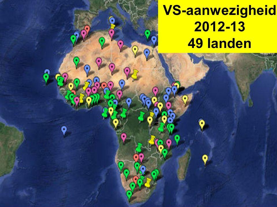 VS-aanwezigheid 2012-13 49 landen
