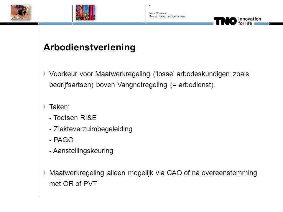 Werkdrukkompas - preventiemedewerker Roos Schelvis Gezond beleid en Werkstress 18