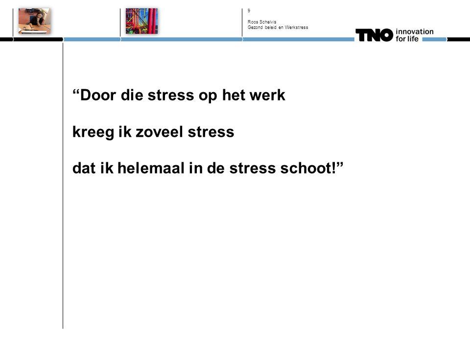 Door die stress op het werk kreeg ik zoveel stress dat ik helemaal in de stress schoot! 9