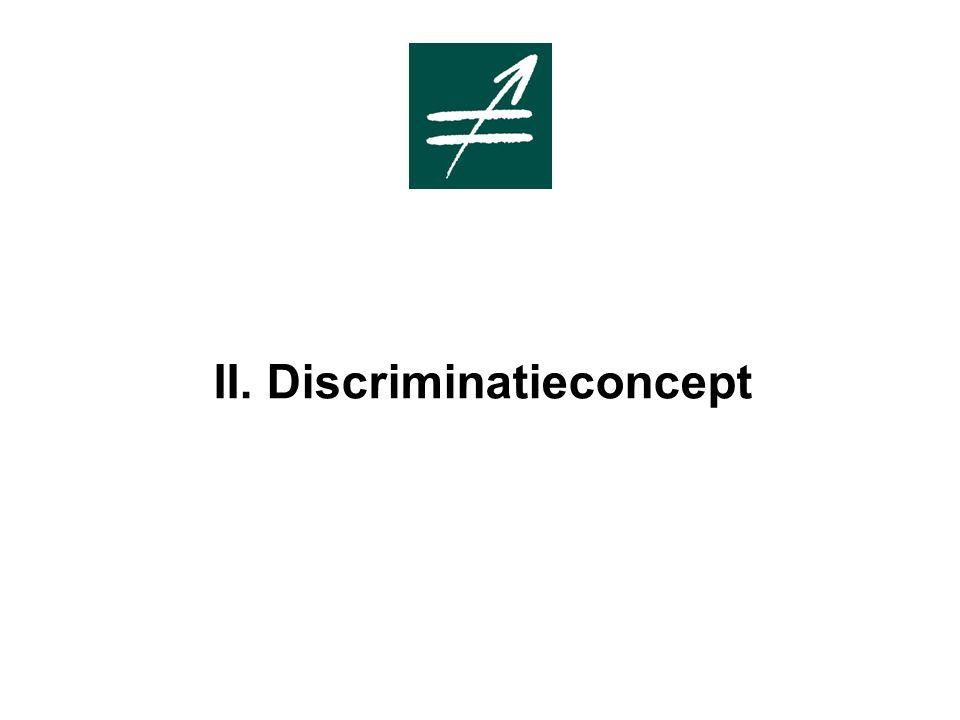 II. Discriminatieconcept