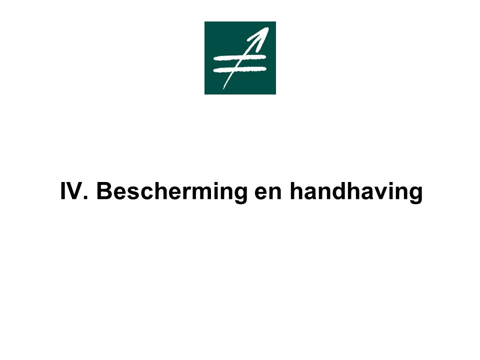 IV. Bescherming en handhaving