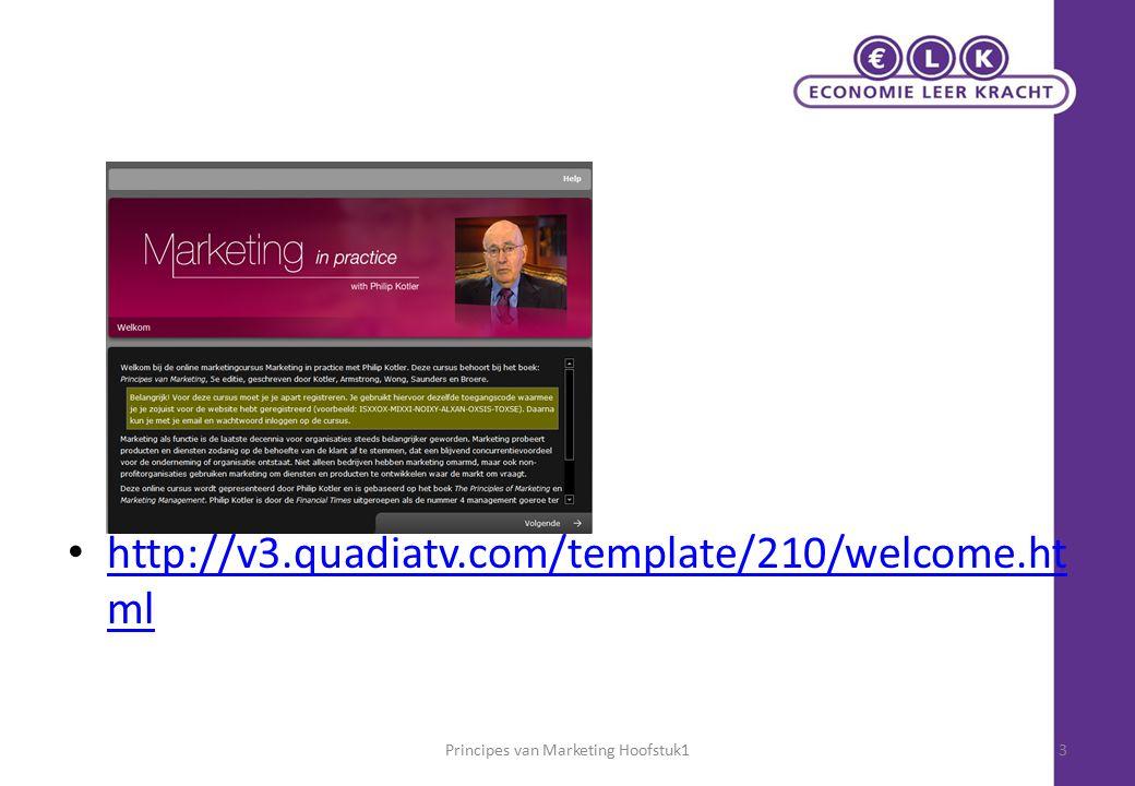 Marketing anno nu Principes van marketing – Hoofdstuk 124