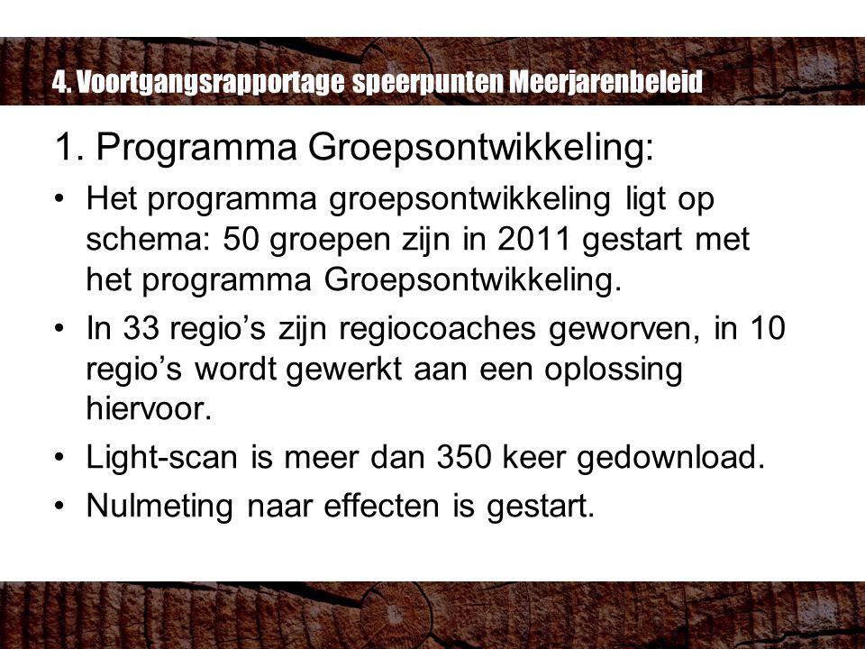 4. Voortgangsrapportage speerpunten Meerjarenbeleid 1.