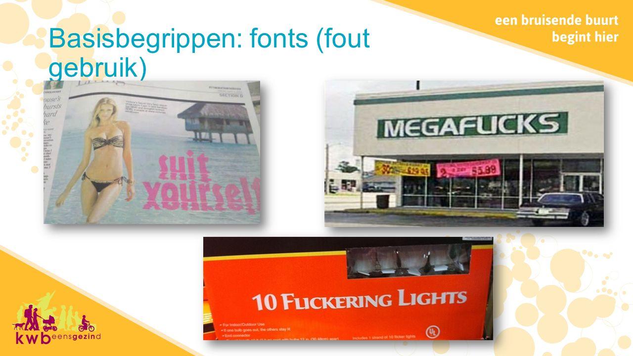 Basisbegrippen: fonts (fout gebruik)