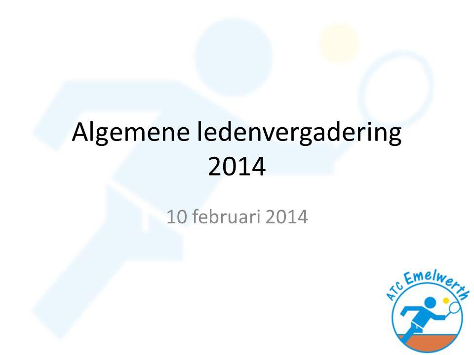 Algemene ledenvergadering 2014 10 februari 2014