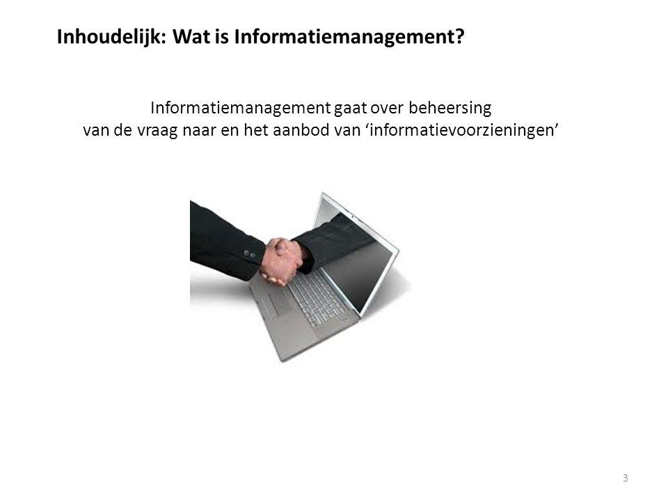 Inhoudelijk: Wat is Informatiemanagement.