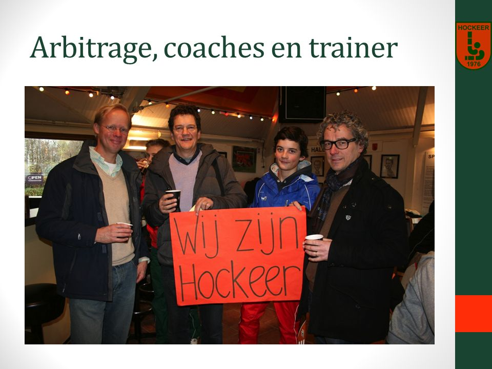 Arbitrage, coaches en trainer