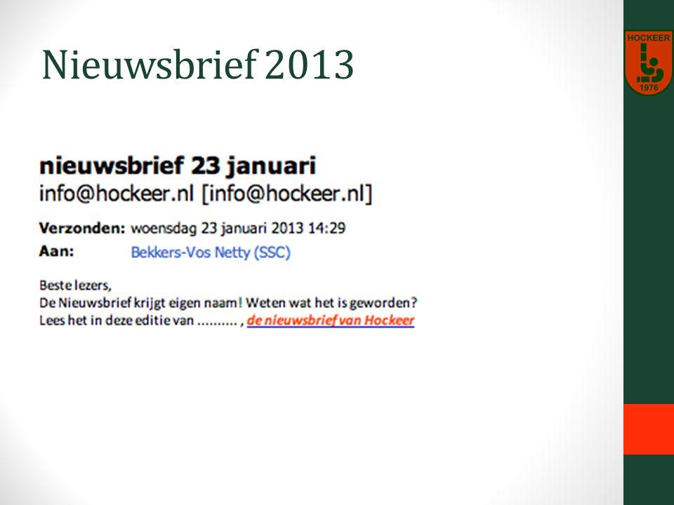 Nieuwsbrief 2013