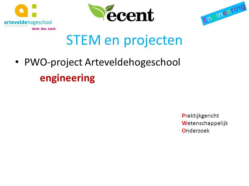 STEM en projecten PWO-project Arteveldehogeschool engineering Praktijkgericht Wetenschappelijk Onderzoek