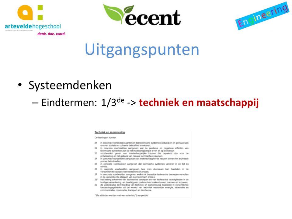 Systeemdenken – Eindtermen: 1/3 de -> techniek en maatschappij