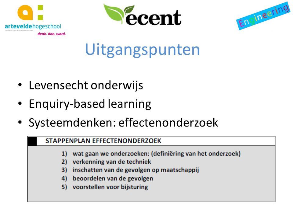 Levensecht onderwijs Enquiry-based learning Systeemdenken: effectenonderzoek